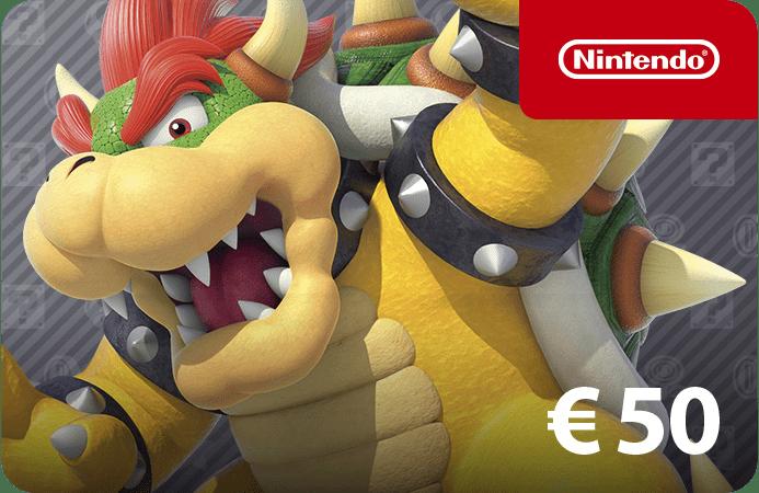 Nintendo E-shop tegoed 50Euro